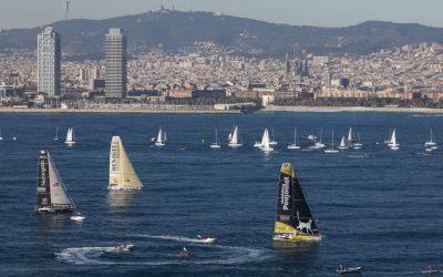 Brand new GPS Compass running the Barcelona World Race !
