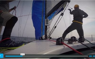 Aboard Chief, equipped with nke instruments, during a race in USA !