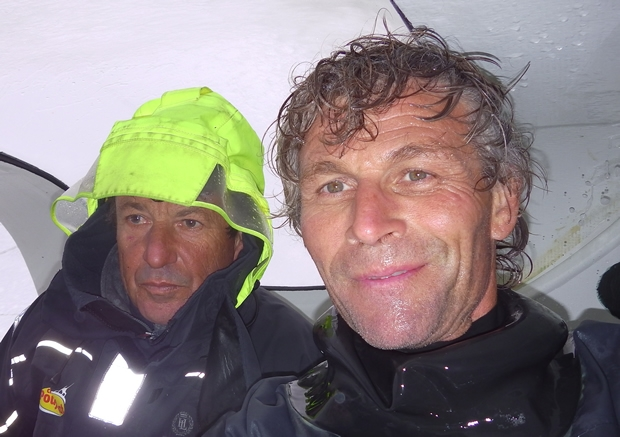 Race leaders Cheminées Poujoulat round the legendary Cape Horn