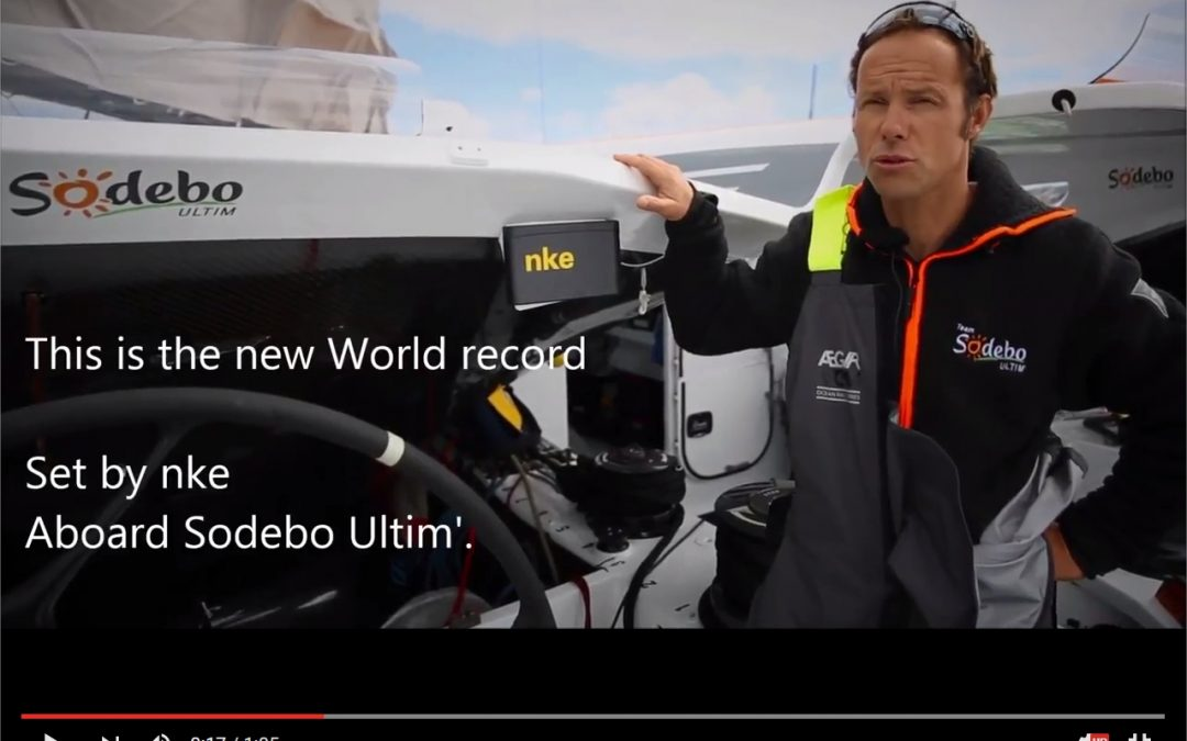 The nke autopilot brokes the new record (714 milles in 24h) aboard Sodebo